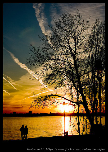 romantic couple sunset 2