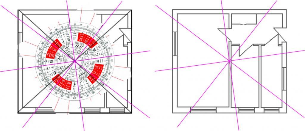 Plan apartament sablon si 8 zone