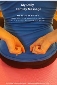 Automasaj fertilitate faza menstruala