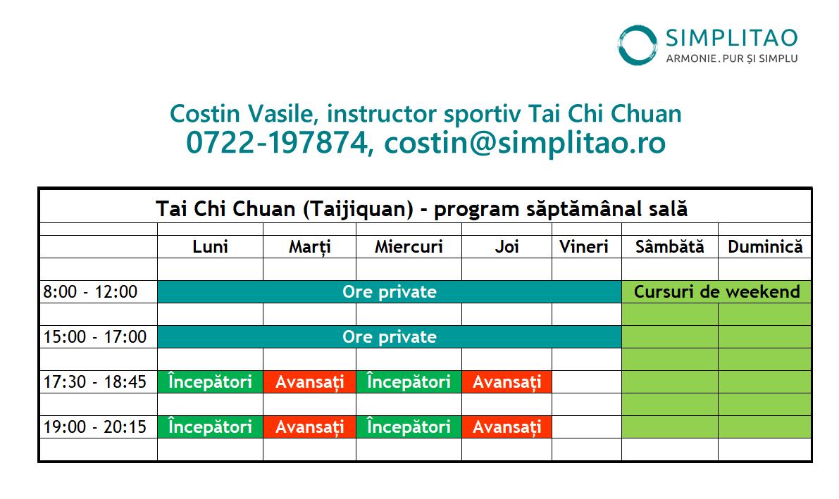 Tai Chi Chuan program sala Simplitao